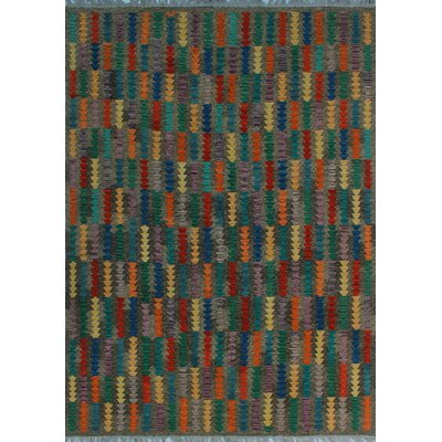 One-of-a-Kind Kratzerville Kilim Adeben Hand-Woven Wool Brown Area Rug