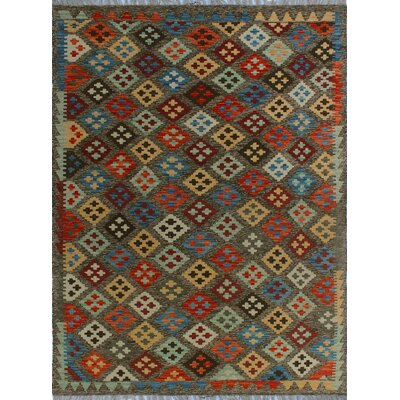 One-of-a-Kind Kratzerville Kilim Ababuo Hand-Woven Wool Brown Area Rug