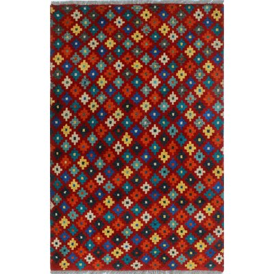 One-of-a-Kind Millender Barika Hand-Knotted Wool Red Area Rug