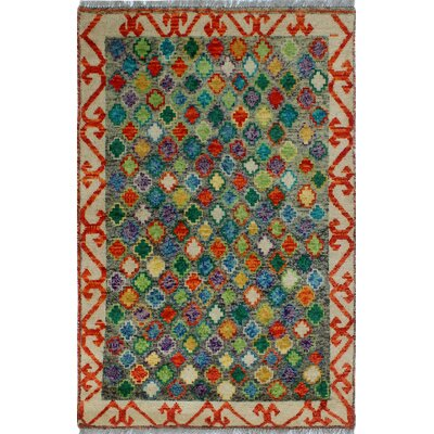 One-of-a-Kind Millender Oladele Hand-Knotted Wool Gray Area Rug