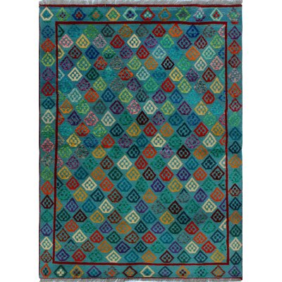 One-of-a-Kind Millender Olushola Hand-Knotted Wool Green Area Rug