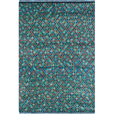 One-of-a-Kind Millender Bayo Hand-Knotted Wool Rust Area Rug
