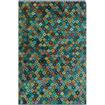 One-of-a-Kind Millender Kwasi Hand-Knotted Wool Green Area Rug