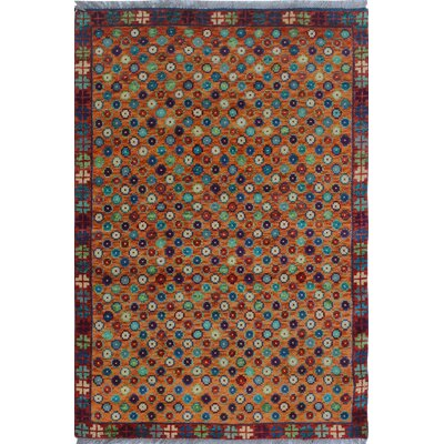 One-of-a-Kind Millender Chike Hand-Knotted Wool Rust Area Rug