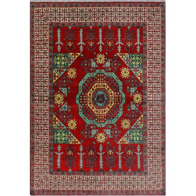 One-of-a-Kind Millender Sanura Hand-Knotted Wool Red Area Rug