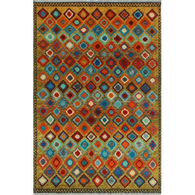 One-of-a-Kind Millender Akilah Hand-Knotted Wool Gold Area Rug