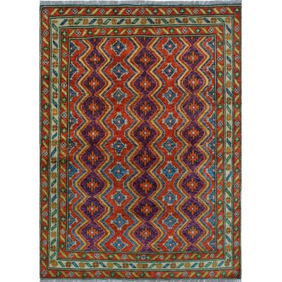 One-of-a-Kind Millender Fukayna Hand-Knotted Wool Red/Rust Area Rug