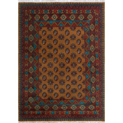 One-of-a-Kind Millender Cash Hand-Knotted Wool Gold Area Rug