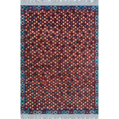 One-of-a-Kind Millender Baako Hand-Knotted Wool Red Area Rug