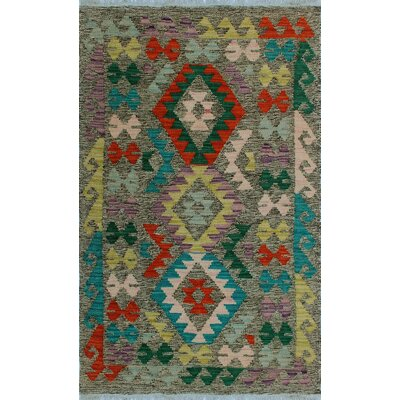 One-of-a-Kind Kratzerville Kilim Akinlana Hand-Woven Wool Brown Area Rug