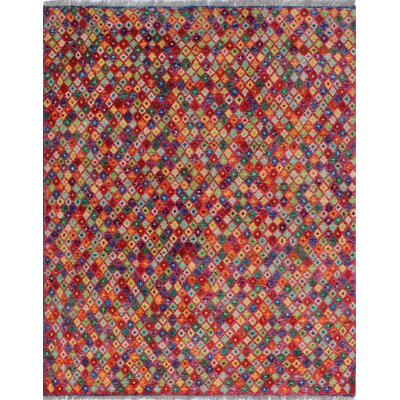 One-of-a-Kind Millender Lumusi Hand-Knotted Wool Red Area Rug