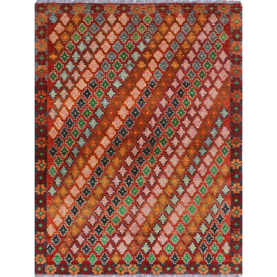 One-of-a-Kind Millender Ulises Hand-Knotted Wool Rust Area Rug