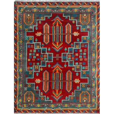 One-of-a-Kind Millender Ojore Hand-Knotted Wool Red Area Rug