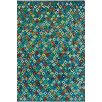 One-of-a-Kind Millender Rex Hand-Knotted Wool Green Area Rug