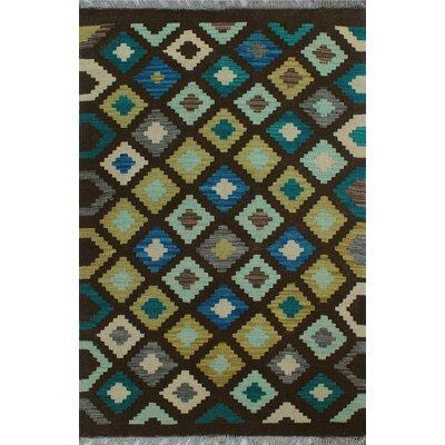 One-of-a-Kind Kratzerville Kilim Abdu Hand-Woven Wool Brown Area Rug