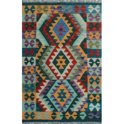 One-of-a-Kind Kratzerville Kilim Ulu Hand-Woven Wool Ivory Area Rug
