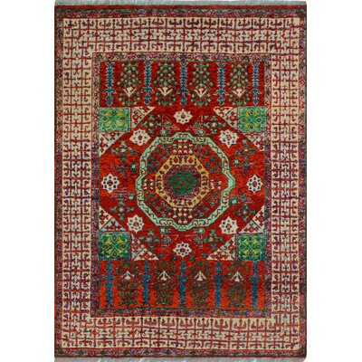 One-of-a-Kind Millender Kukua Hand-Knotted Wool Rust Area Rug