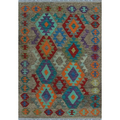 One-of-a-Kind Kratzerville Kilim Ethan�Hand-Woven Wool Brown Area Rug