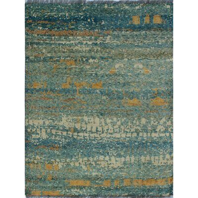 One-of-a-Kind Millender Natalie Hand-Knotted Wool Ivory Area Rug