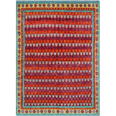 One-of-a-Kind Millender Phoenix Hand-Knotted Wool Red Area Rug