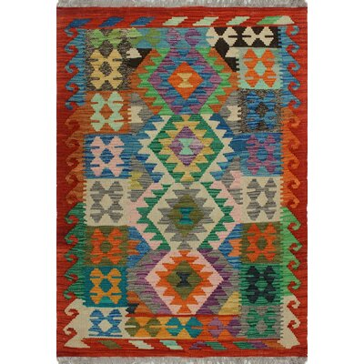 One-of-a-Kind Kratzerville Kilim Samuel�Hand-Woven Wool Ivory Area Rug