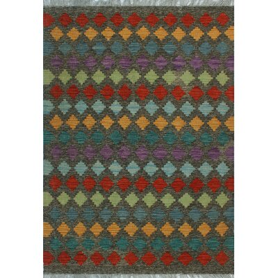 One-of-a-Kind Kratzerville Kilim Alexander�Hand-Woven Wool Brown Area Rug