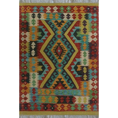 One-of-a-Kind Kratzerville Kilim Logan�Hand-Woven Wool Gold Area Rug