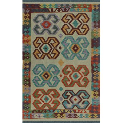 One-of-a-Kind Kratzerville Kilim Max�Hand-Woven Wool Ivory Area Rug