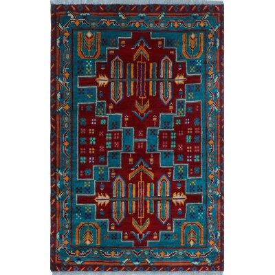 One-of-a-Kind Millender Tumaini Hand-Knotted Wool Red Area Rug