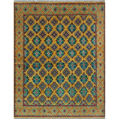 One-of-a-Kind Millender Natalee Hand-Knotted Wool Gold Area Rug