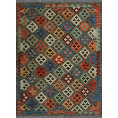 One-of-a-Kind Kratzerville Kilim Abiola Hand-Woven Wool Rust Area Rug