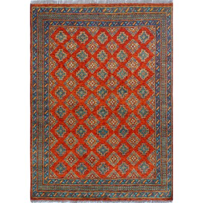 One-of-a-Kind Millender Dulce Hand-Knotted Wool Rust Area Rug