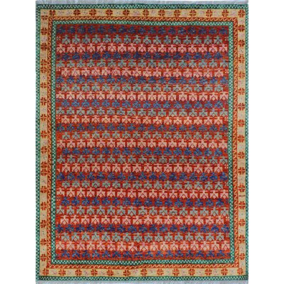 One-of-a-Kind Millender Morowa Hand-Knotted Wool Orange Area Rug