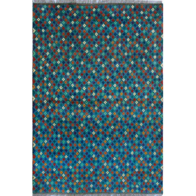One-of-a-Kind Millender Khalfani Hand-Knotted Wool Blue Area Rug