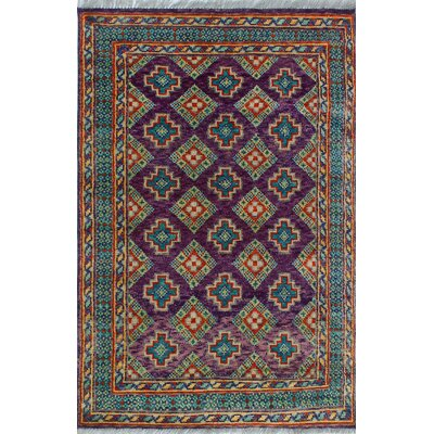 One-of-a-Kind Millender Jovanny Hand-Knotted Wool Purple Area Rug