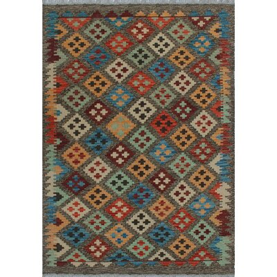 One-of-a-Kind Kratzerville Kilim Abayomi Hand-Woven Wool Brown Area Rug