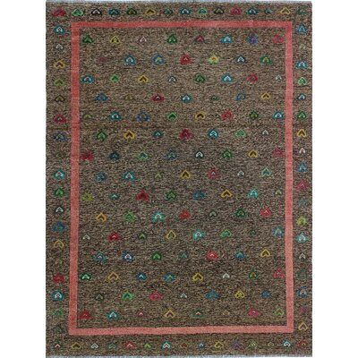 One-of-a-Kind Milliron Kilim Sabah Hand-Woven Wool Brown Area Rug