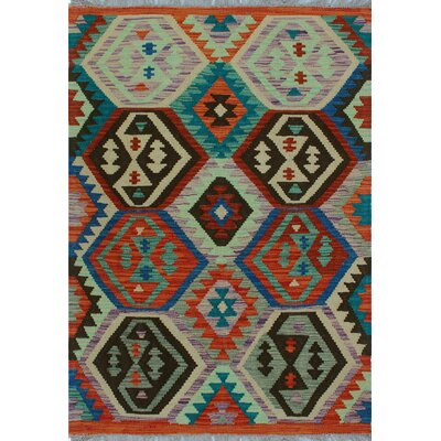 One-of-a-Kind Kratzerville Kilim Jumoke Hand-Woven Wool Ivory Area Rug