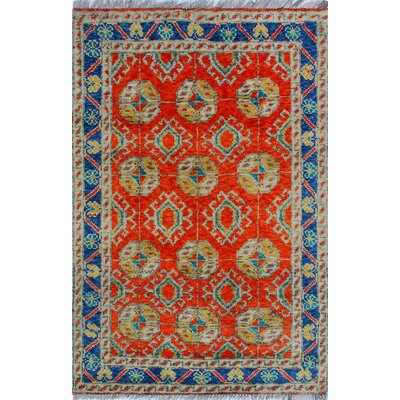 One-of-a-Kind Millender Ulysses Hand-Knotted Wool Rust Area Rug