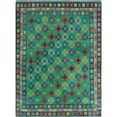 One-of-a-Kind Millender Miracle Hand-Knotted Wool Gray Area Rug