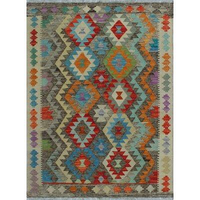 One-of-a-Kind Kratzerville Kilim Nanyamka Hand-Woven Wool Brown Area Rug