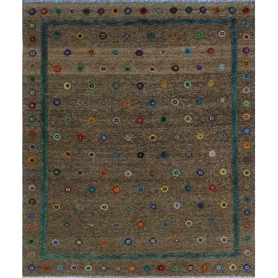 One-of-a-Kind Milliron Kilim Dalili Hand-Woven Wool Brown Area Rug