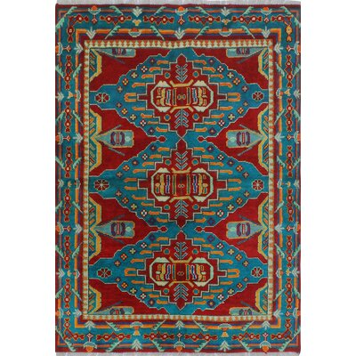 One-of-a-Kind Millender Elyse Hand-Knotted Wool Red Area Rug