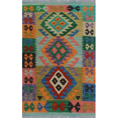 One-of-a-Kind Kratzerville Kilim Jacob�Hand-Woven Wool Orange Area Rug