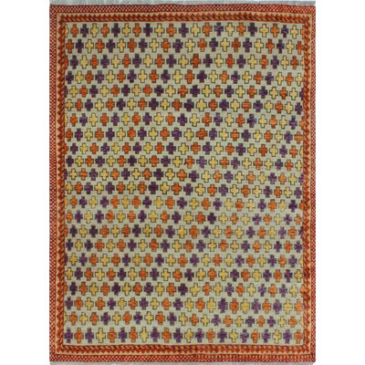 One-of-a-Kind Millender Emely Hand-Knotted Wool Beige Area Rug