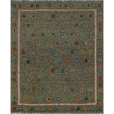 One-of-a-Kind Milliron Kilim Nourbese Hand-Woven Wool Chocolate Area Rug