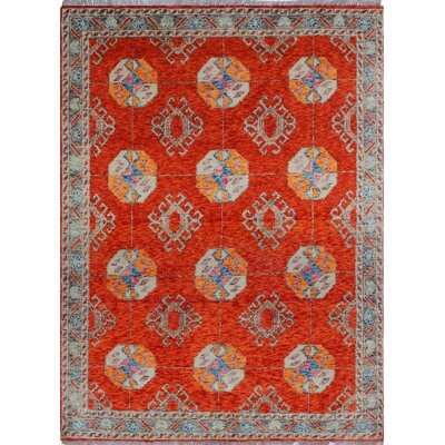 One-of-a-Kind Millender Elyssa Hand-Knotted Wool Rust Area Rug