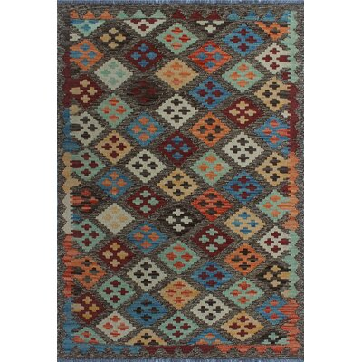 One-of-a-Kind Kratzerville Kilim George�Hand-Woven Wool Brown Area Rug