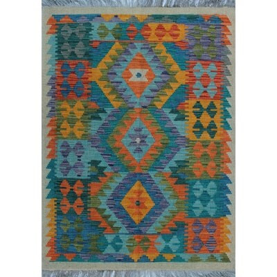 One-of-a-Kind Kratzerville Kilim Benjamin�Hand-Woven Wool Ivory Area Rug