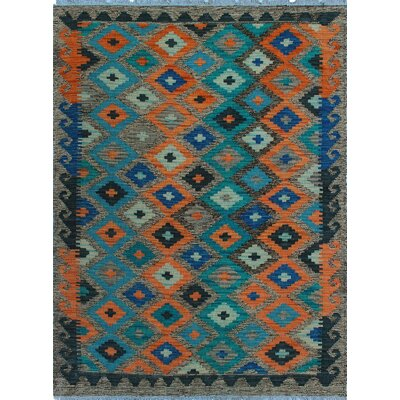One-of-a-Kind Kratzerville Kilim Oscar�Hand-Woven Wool Brown Area Rug